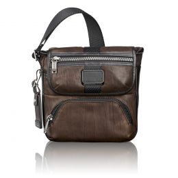 Alpha Bravo Barton Crossbody Leather by TUMI (Color: Dark Brown)