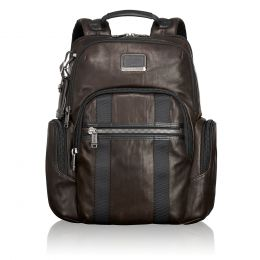 Alpha Bravo Nellis Backpack Leather by TUMI (Color: Dark Brown)