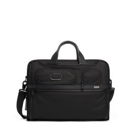 Alpha COMPACT LARGE SCREEN LAPTOP BRIEF by TUMI (Color: Black)