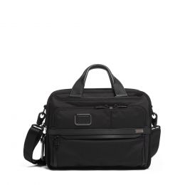 Alpha Small Screen Expandable Laptop Brief by TUMI (Color: Black)