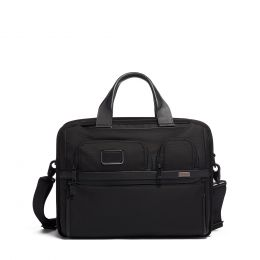 Alpha TUMI T-Pass® Expandable Laptop Brief by TUMI (Color: Black)