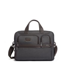 Alpha EXPANDABLE ORGANIZER LAPTOP BRIEF by TUMI (Color: Anthracite)