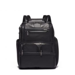 Alpha Compact Laptop Brief Pack® Leather by TUMI (Color: Black)