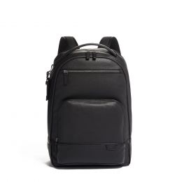 TUMI Harrison Warren Backpack Leather by TUMI (Color: Black)