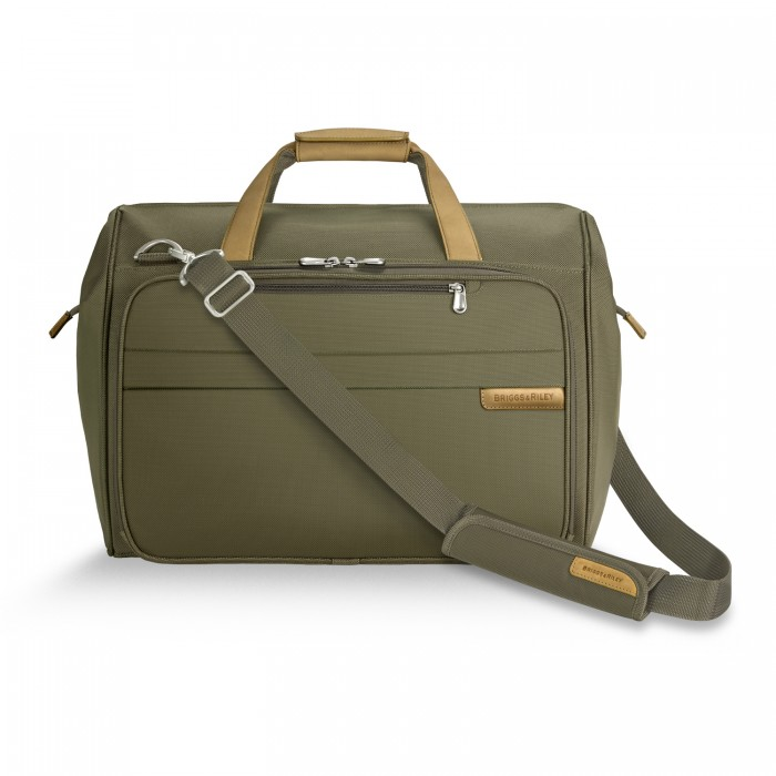Baseline Framed Weekender by Briggs & Riley (Color: Olive)