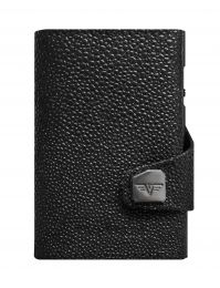 Sting Ray Leather Wallet CLICK & SLIDE by TRU VIRTU® (Color: Sting Ray Black/Black)
