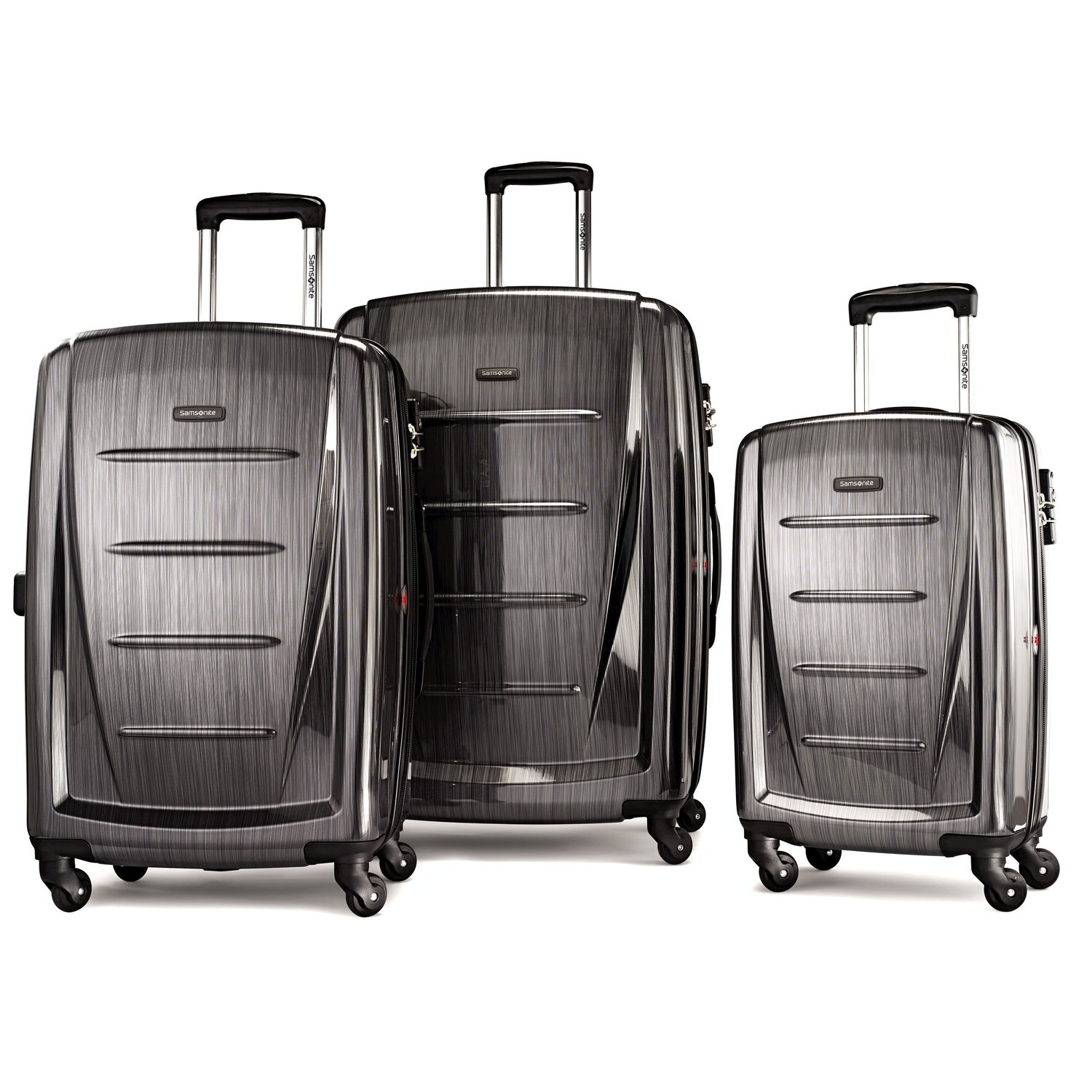 Samsonite Winfield 2 Fashion 3 Piece Spinner Set (Color: Charcoal)