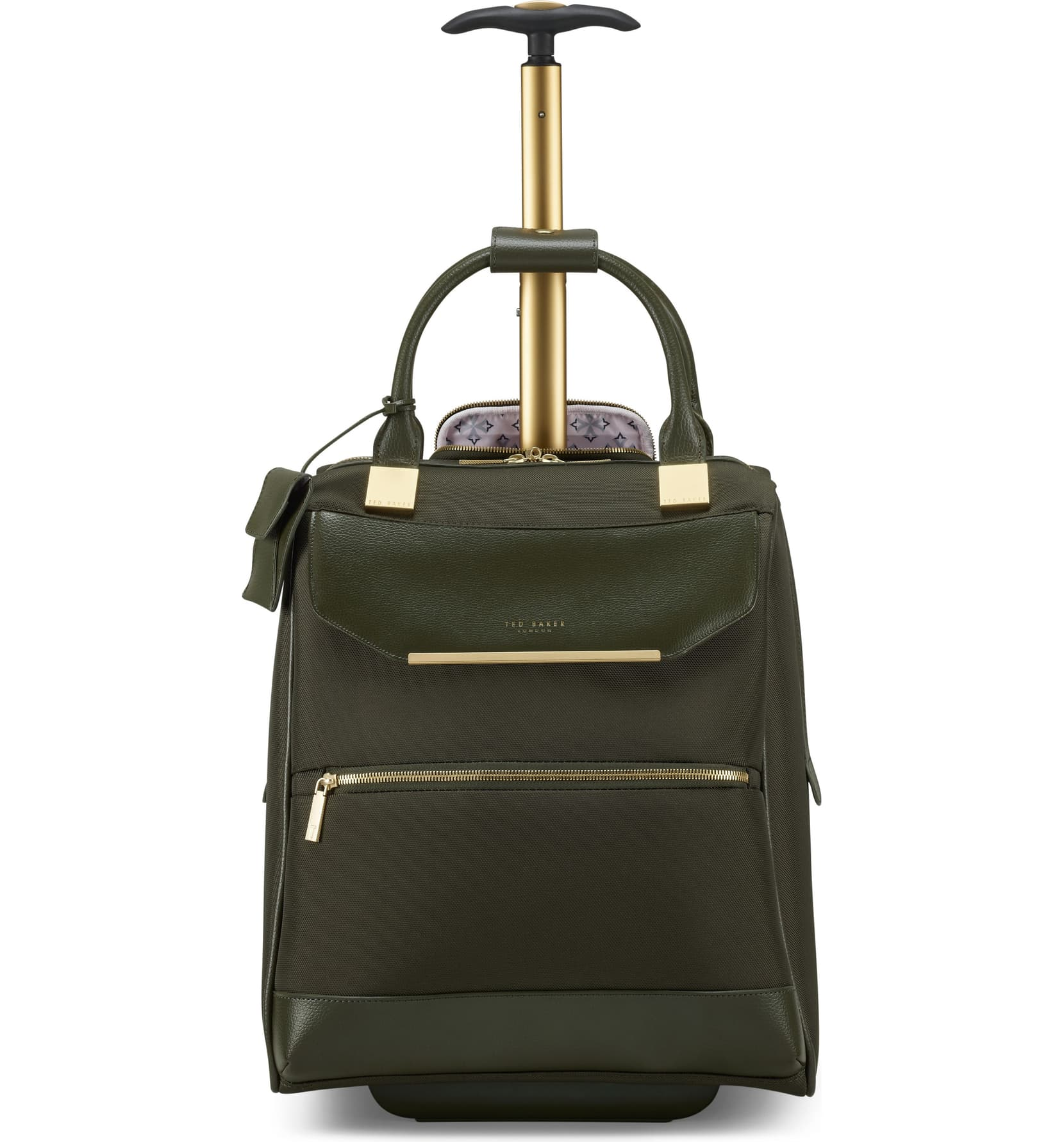 TB Womens Albany Softside Wheeled Business Case by Ted Baker (Color: Olive)