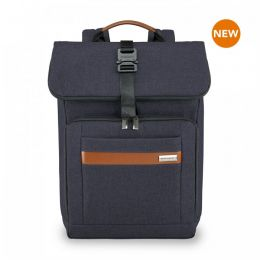 Kinzie Street Medium Foldover Backpack by Briggs & Riley (Color: Navy)