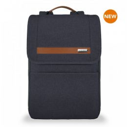 Kinzie Street Slim Expandable Backpack by Briggs & Riley (Color: Navy)