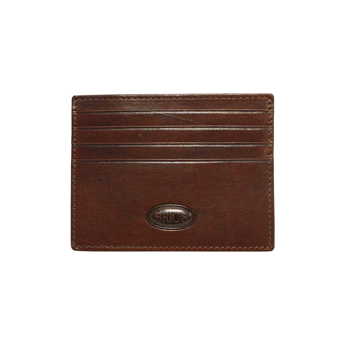 Monte Rosa Slim Card Case by Brics (Color: Dark Brown)