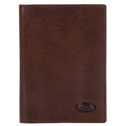 Monte Rosa Passport + Credit Card Holder by Brics (Color: Dark Brown)