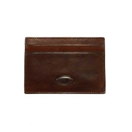 Monte Rosa Slim Card Case + Money Clip by Brics (Color: Dark Brown)