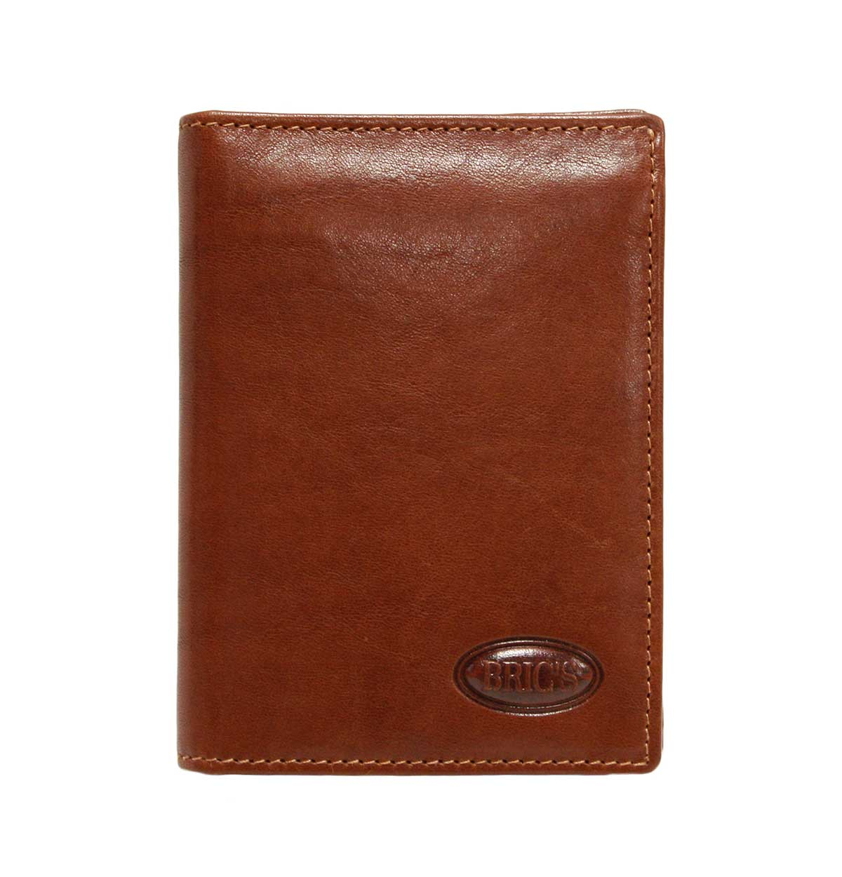 Monte Rosa Flip-Up Vertical Wallet With Id by Brics (Color: Tobacco)
