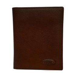 Monte Rosa Slim Vertical Wallet With Id by Brics (Color: Dark Brown)