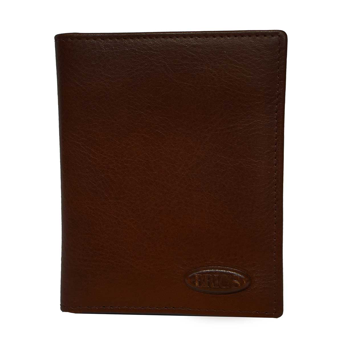 Monte Rosa Vertical Wallet With Id by Brics (Color: Dark Brown)
