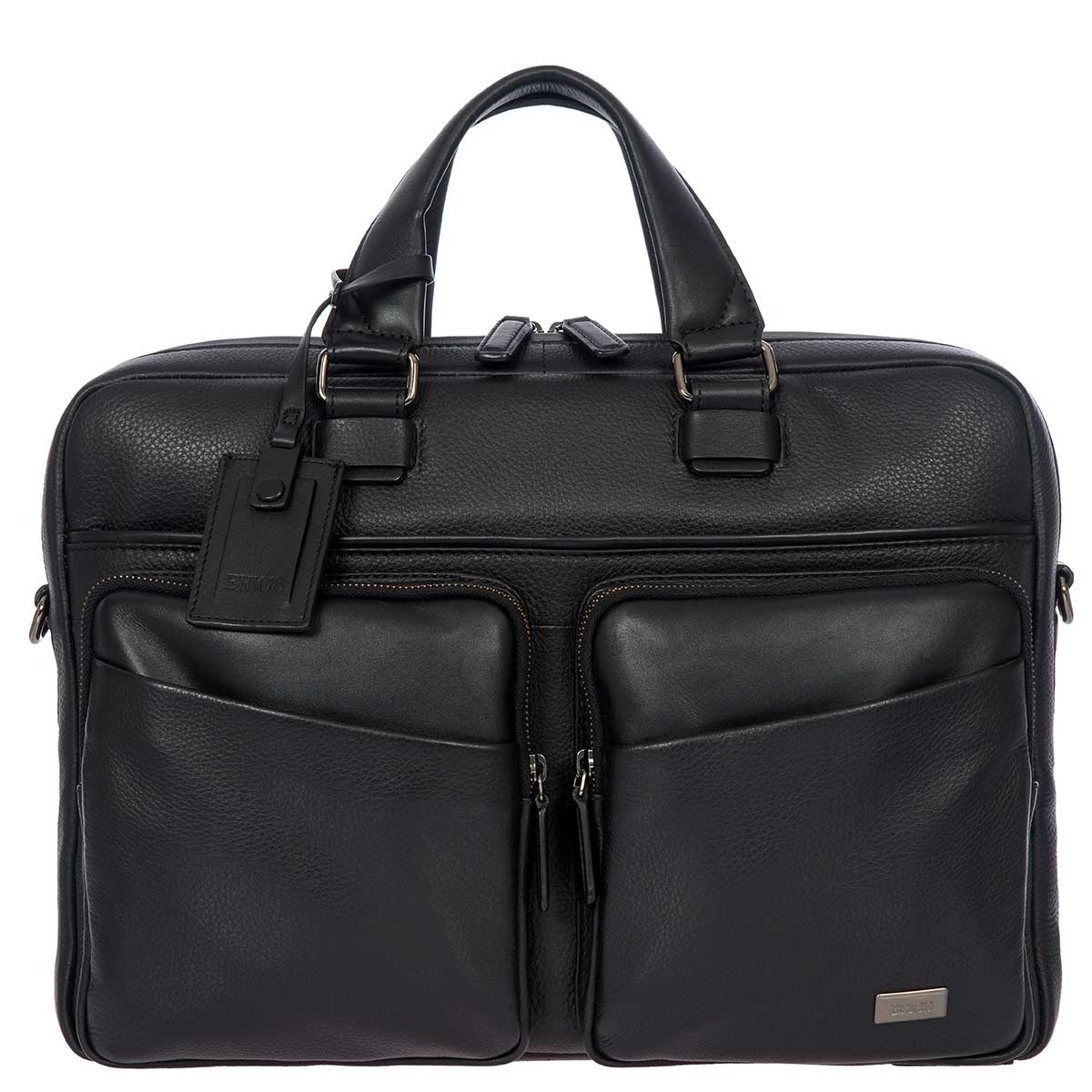 Torino Briefcase 1 Garment 2 Handle by Brics (Color: Black)