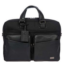 Monza Briefcase 1 Garment 2 Handle by Brics (Color: Black/Black)