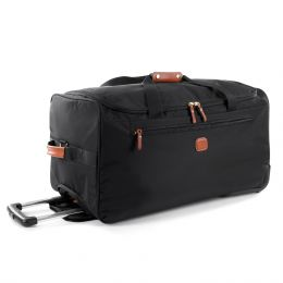 "X-Travel 28"" Rolling Duffle by Brics (Color: Black)"