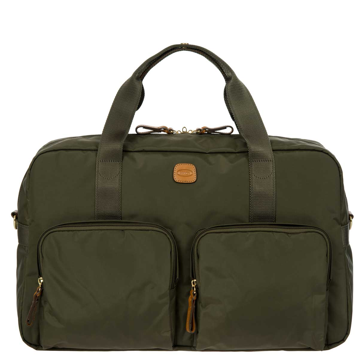 "X-Travel 18"" Boarding Duffle W/Pockets by Brics (Color: Olive)"