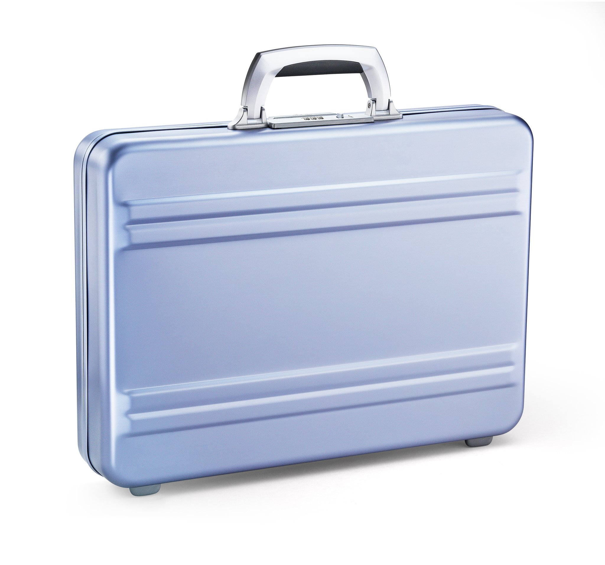 "Slimline - 3"" Polished Blue Slimline Aluminum Attaché Case by Zero Halliburton (Color: Polished Blue)"