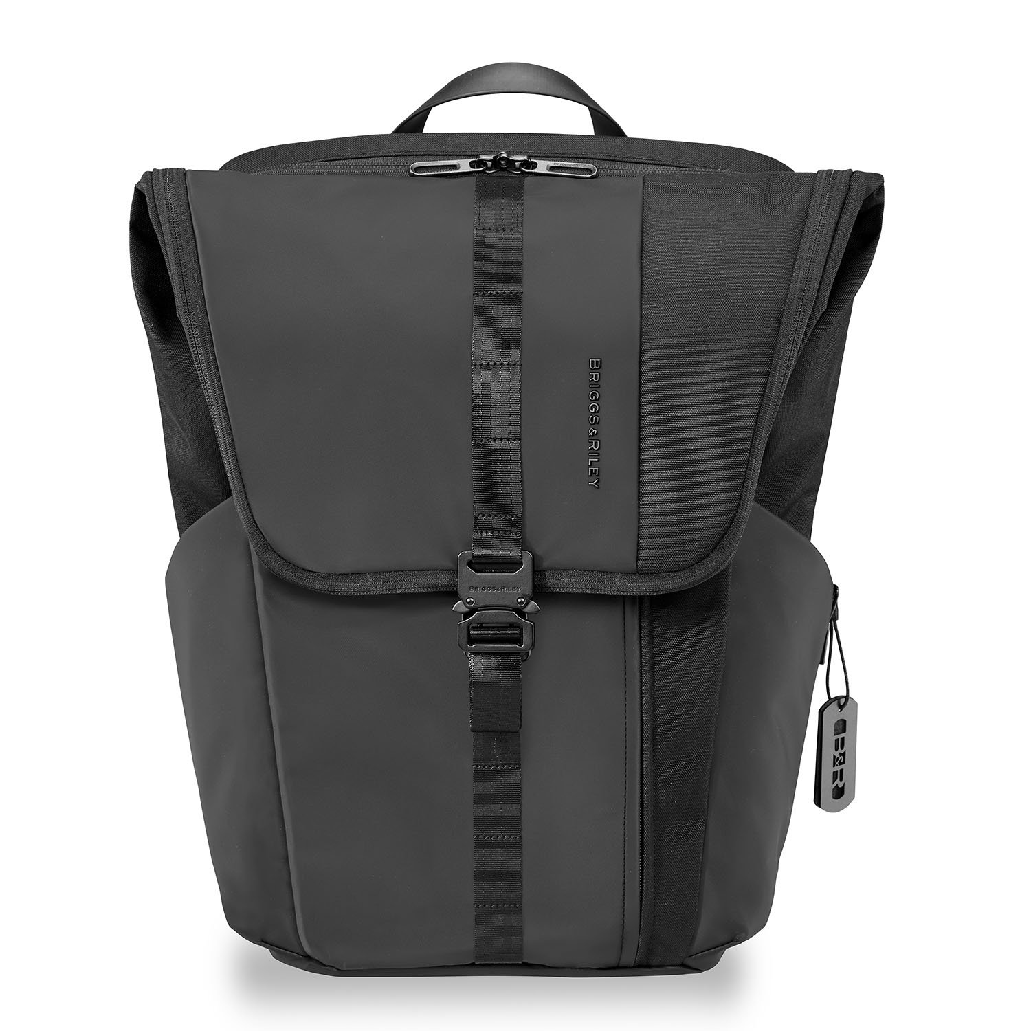 Delve Large Fold-over Backpack by Briggs & Riley (Color: Black)
