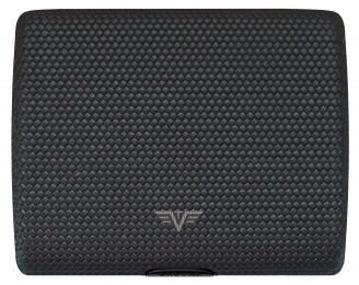 Wallet PAPERS & CARDS Leather by TRU VIRTU® - Diagonal Carbon Black (Color: Diagonal Carbon Black)