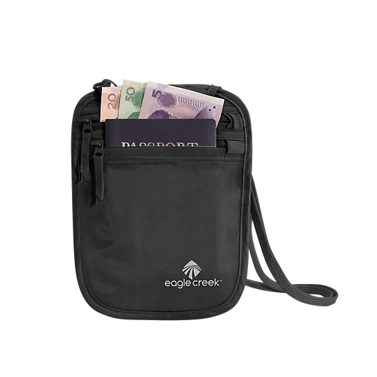 Silk Undercover™ Neck Wallet by Eagle Creek (Color: Black)