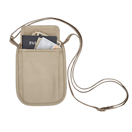 RFID Blocker Neck Wallet by Eagle Creek (Color: Tan)