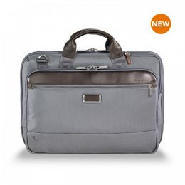 "@work Slim Brief for 15.6"" laptops by Briggs & Riley (Color: Grey)"