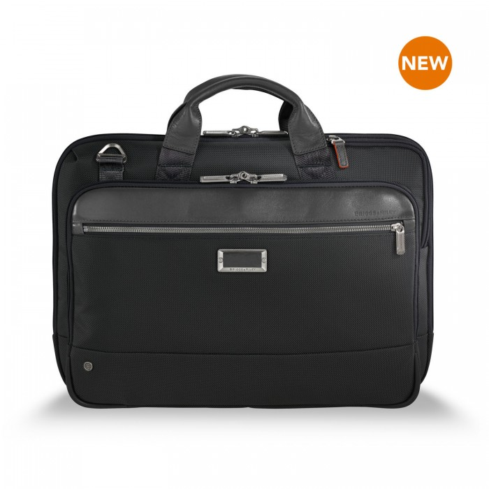 "@work Slim Brief for 15.6"" laptops by Briggs & Riley (Color: Black)"