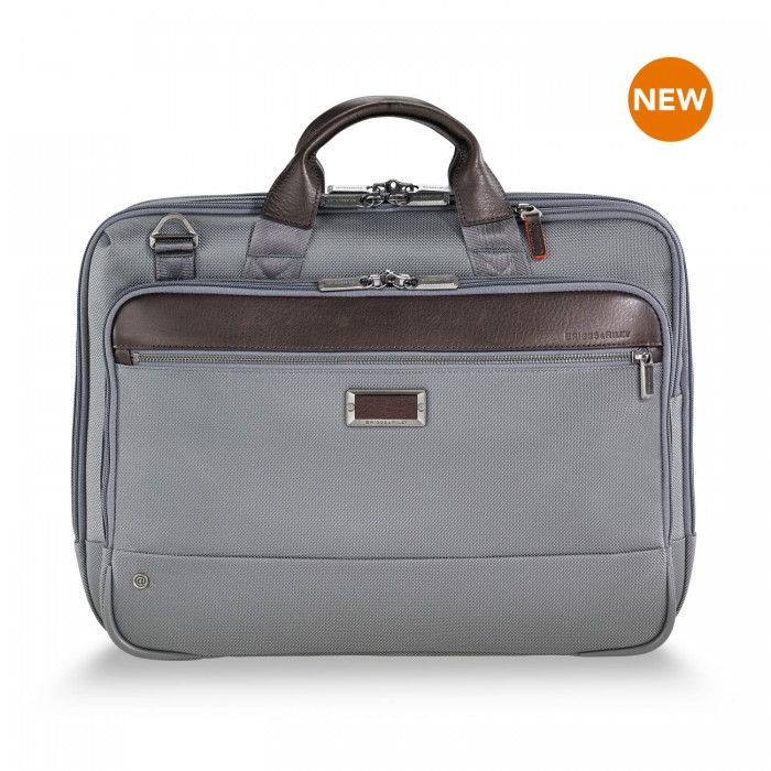 "@work Medium Brief for 15.6"" laptops by Briggs & Riley (Color: Grey)"