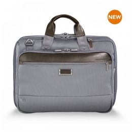 "@work Medium Expandable Brief for 15.6"" laptops by Briggs & Riley (Color: Grey)"