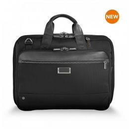 "@work Medium Expandable Brief for 15.6"" laptops by Briggs & Riley (Color: Black)"