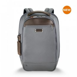 "@work Medium Slim Backpack for 15.6"" laptops by Briggs & Riley (Color: Grey)"