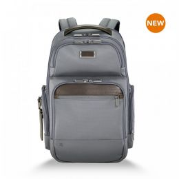 "@work Medium Cargo Backpack for 15.6"" laptops by Briggs & Riley (Color: Grey)"