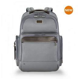 "@work Large Cargo Backpack for 17"" laptops by Briggs & Riley (Color: Grey)"