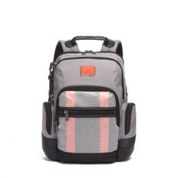 Alpha Bravo Nathan Backpack by TUMI (Color: Grey/Bright Red)