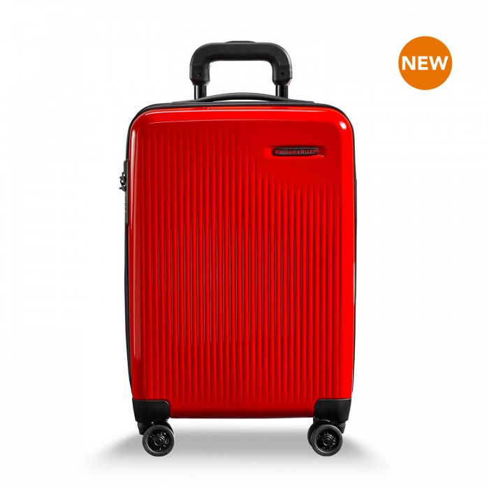 Sympatico International Carry-On Expandable Spinner by Briggs & Riley (Color: Fire)