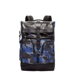 Alpha Bravo London Roll-Top Backpack by TUMI (Color: Camo)