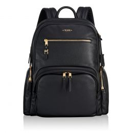 Voyageur Carson Backpack Leather by TUMI (Color: Black)