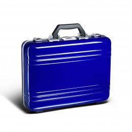 Classic Polycarbonate 2.0 Attaché - Large Classic Framed Polycarbonate Attaché by Zero Halliburton (Color: Blue)