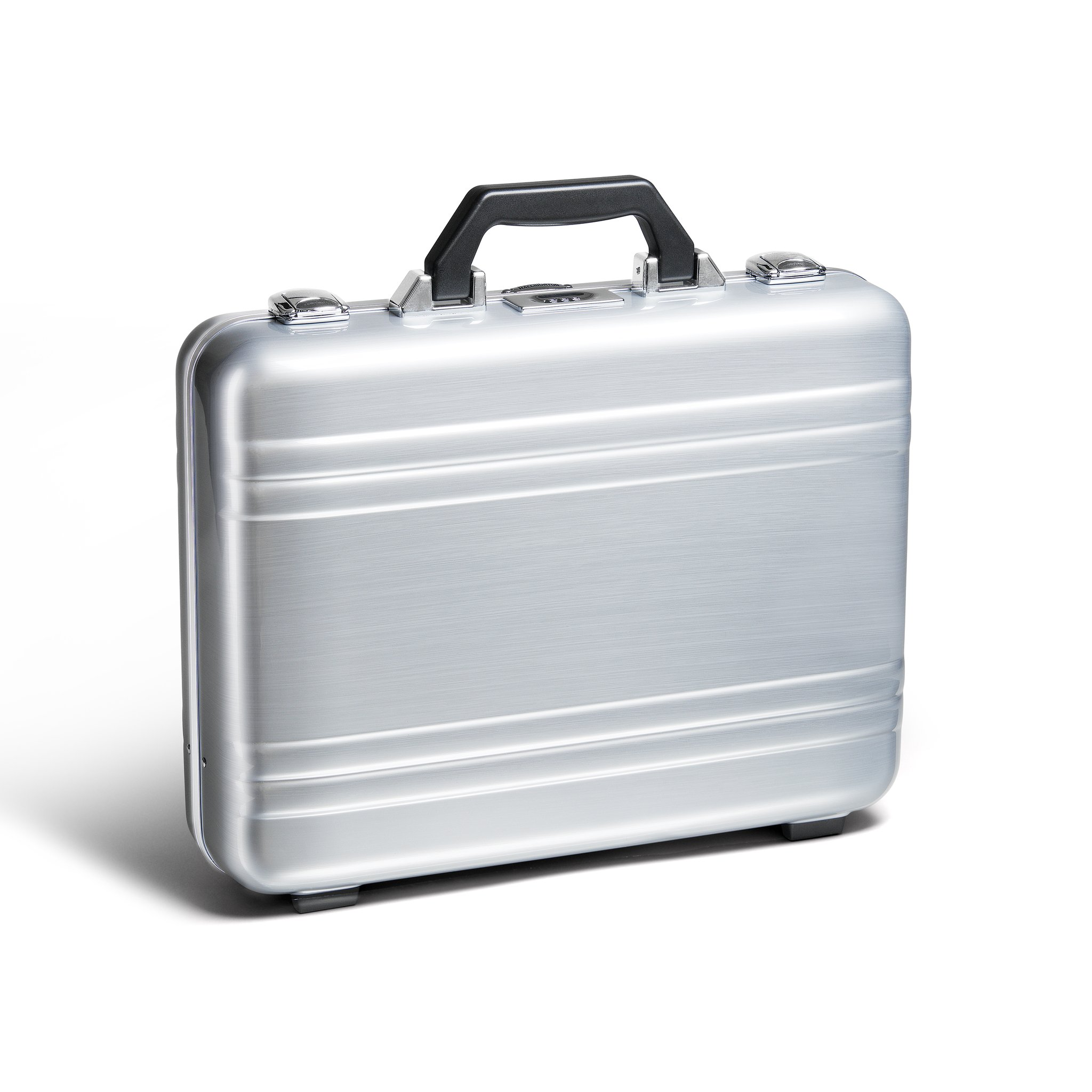 Classic Polycarbonate 2.0 Attaché - Large Classic Framed Polycarbonate Attaché by Zero Halliburton (Color: Silver)
