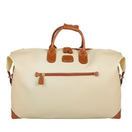 "Bojola 22"" Cargo Duffle by Brics (Color: Cream)"