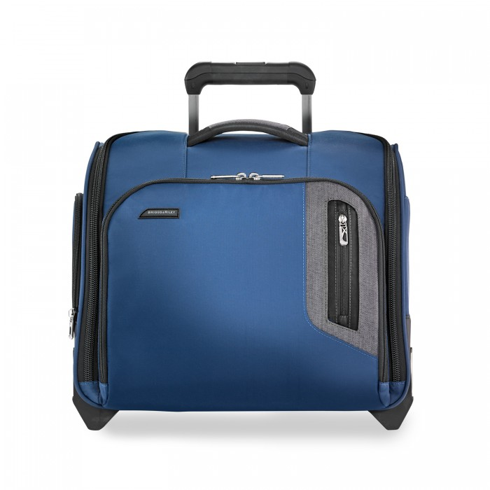 BRX Rolling Cabin Bag (2 wheel) by Briggs & Riley (Color: Blue)
