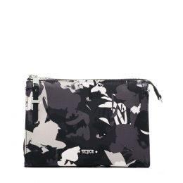 Voyageur BASEL SMALL TRIANGLE POUCH by TUMI (Color: African Floral)