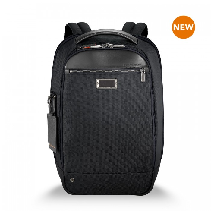"@work Medium Slim Backpack for 15.6"" laptops by Briggs & Riley (Color: Black)"