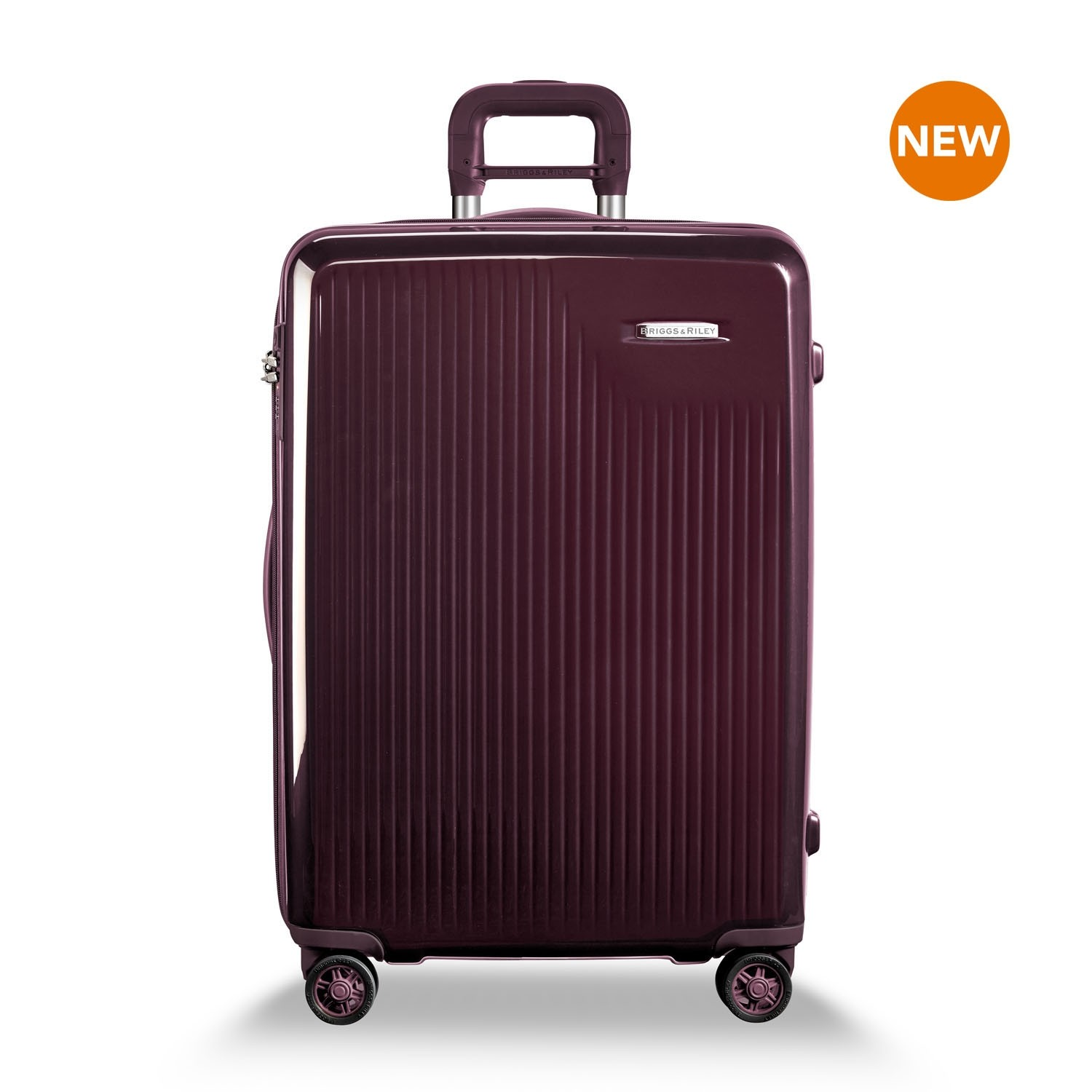 Sympatico Medium Expandable Spinner by Briggs & Riley (Color: Plum)