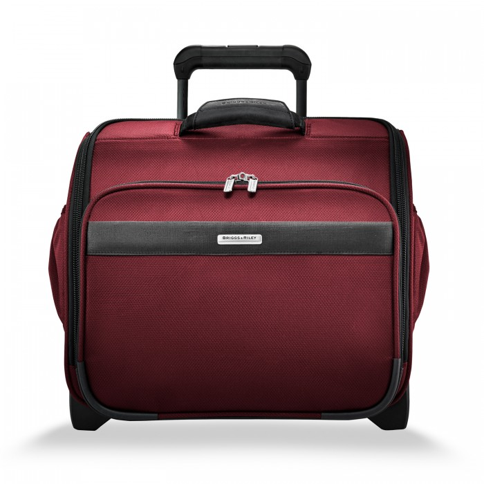 Transcend Rolling Cabin Bag by Briggs & Riley (Color: Merlot)