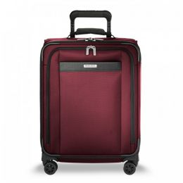 Transcend Wide Carry-On Expandable Spinner by Briggs & Riley (Color: Merlot)
